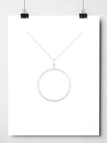 Collier pendentif cercle en argent chez Poisson Plume
