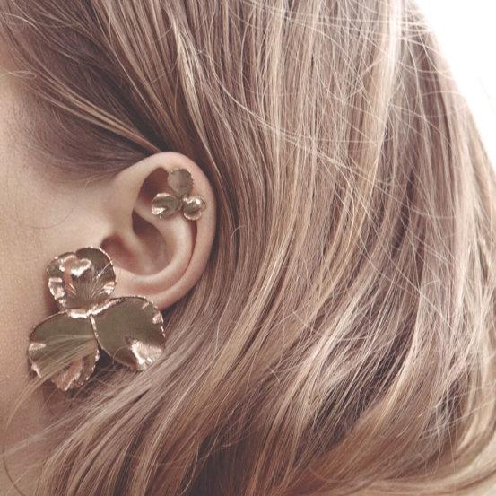 Boucles d'oreilles Pensée Elise tsikis