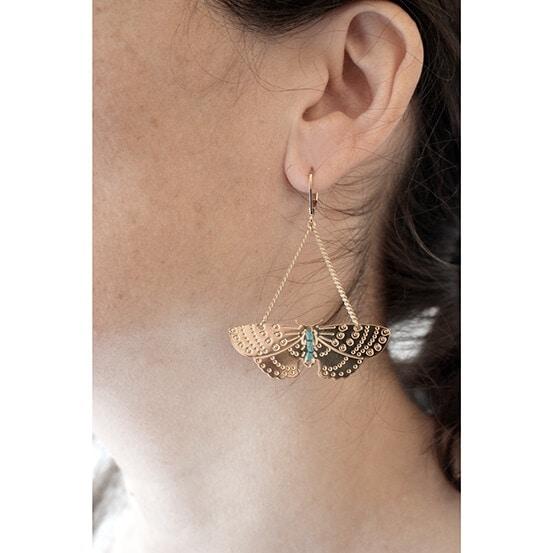 Boucles d'oreilles papilloncreatrice française