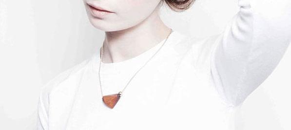 collier de créateur made in france en bois