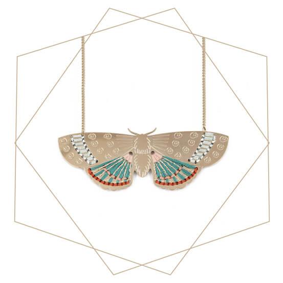 Bijou papillon doré