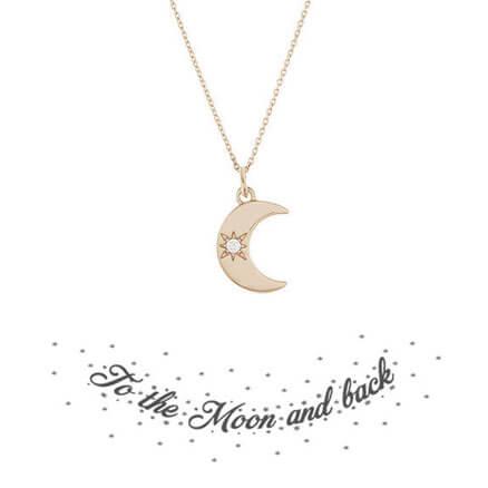 Collier fantaisie de createur lune