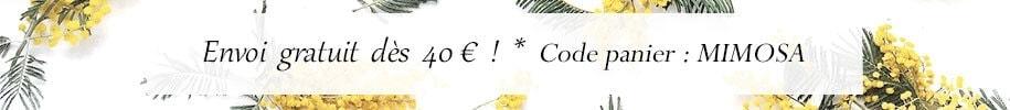 Envoi gratuit dès 40 euros d'acahats chez Poisson Plume bijoux