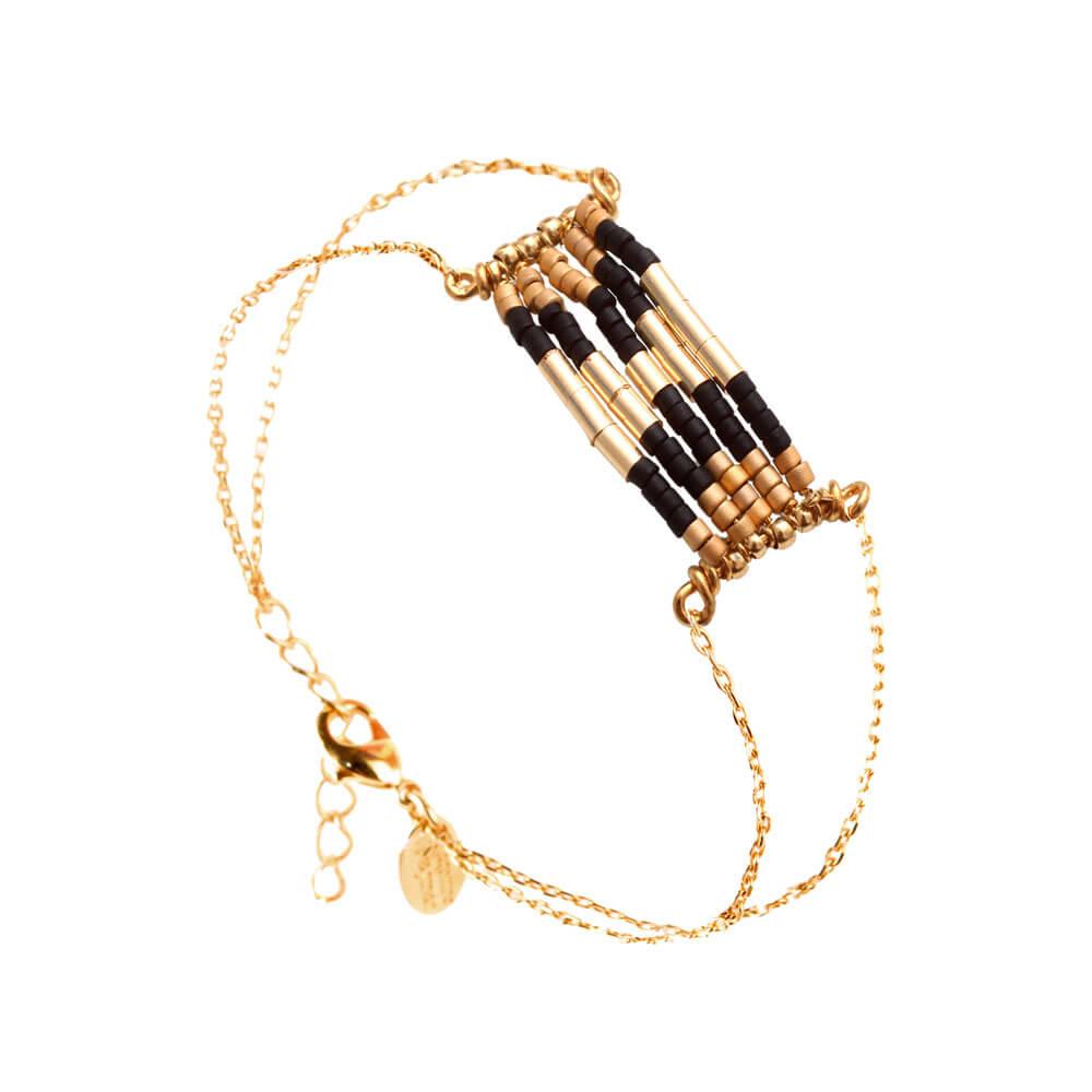 Createur Bijou Fantaisie Paris : Bracelet perles mini folk caroline najman poisson plume