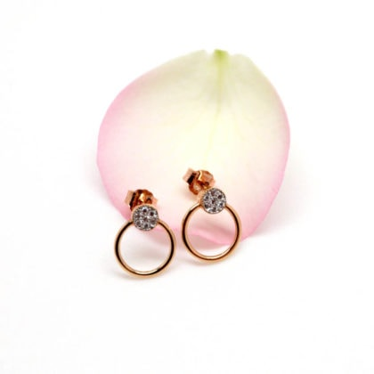 boucles oreilles fines anneau