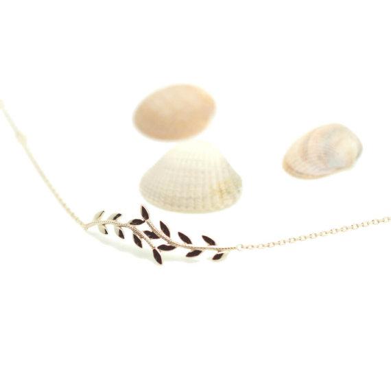 bracelet feuilles nature Poisson Plume