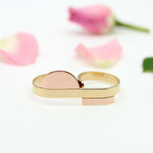 dable bague fantaisie Anne Thomas or et or rose