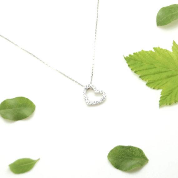 collier coeur en argent chez Poisson Plume bijoux