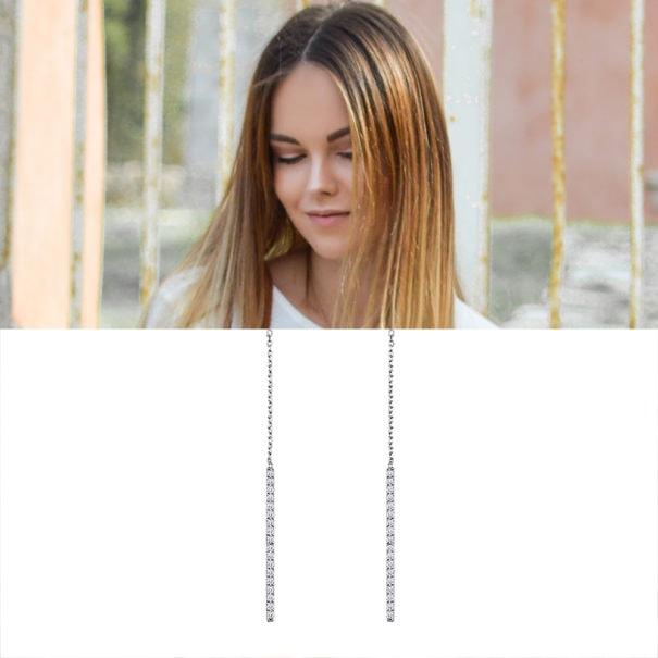 boucles longues pendantes