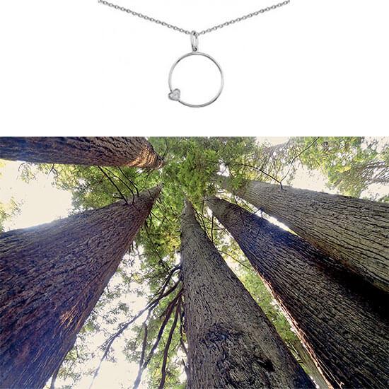 collier fantaisie en argent coeur chez Poisson Plume