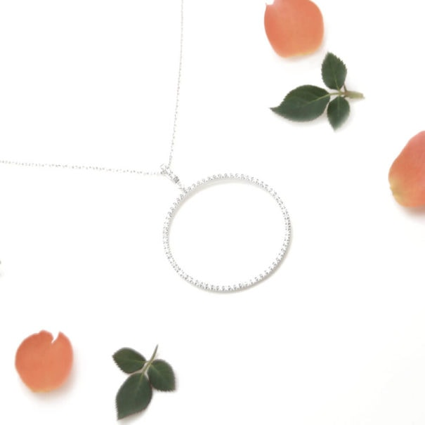 collier fantaisie en argent cercle chez Poisson Plume bijoux