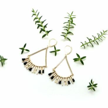 Boucles d'oreilles de créatrice Chirstelle dt Christensen chez Poisson Plume