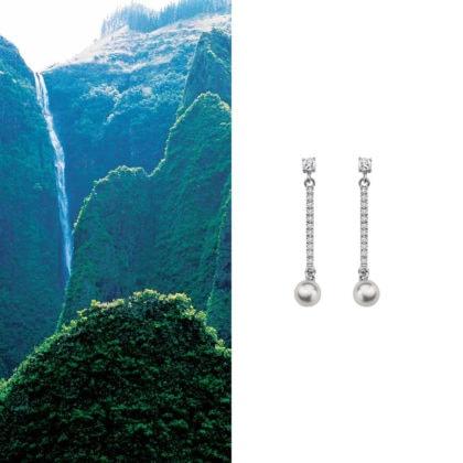 boucles d'oreille en argent et perle