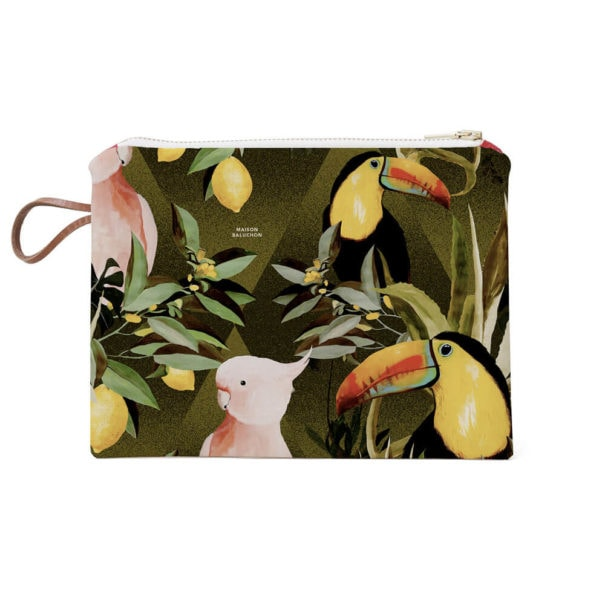 Pochette de sac à main Jungle de chez Maison baluchon, en vente chez Poisson Plume
