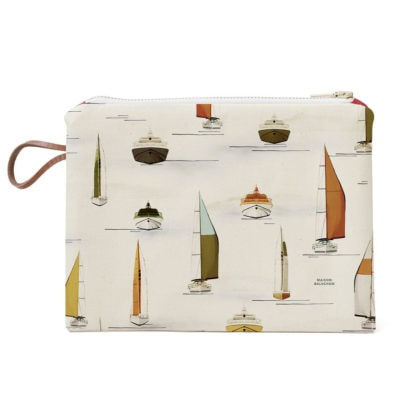Pochette en coton made in France chez poisson plume