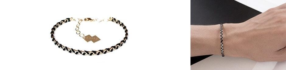 bracelet fait main brodé de Christelle dit Christensen en vente chez Poisson Plume