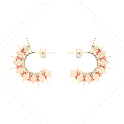 boucles d'oreilles créoles fabriquées à la main en vente chez Poisson Plume bijoux