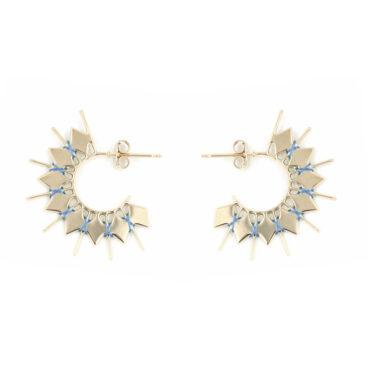 Créoles fantaisie de createur chez Poisson Plume bijoux