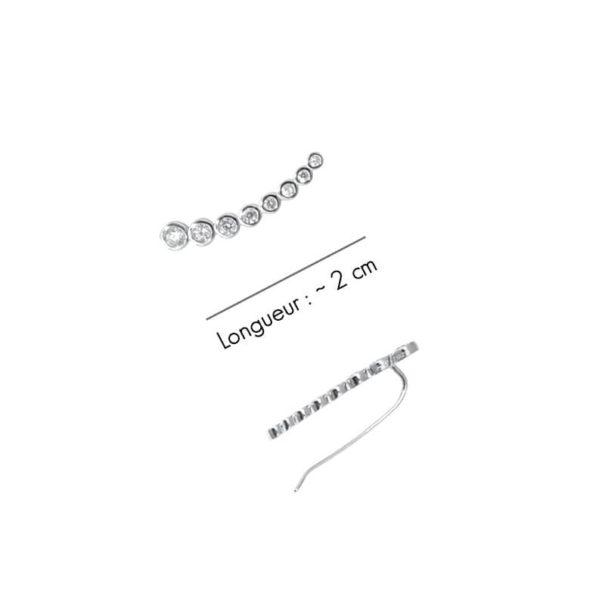 contours d'orreille bijoux argent