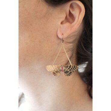 Boucles d'oreilles fantaisie papillon chez Poisson Plume