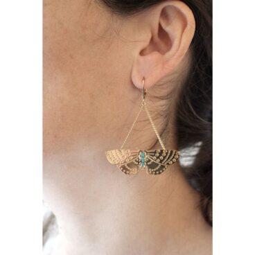 Boucles d'oreilles papillon Christelle dit Christensen