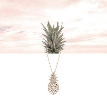 Collier fantaisie fin doté d'un pendentif ananas, à retrouver chez Poisson Plume