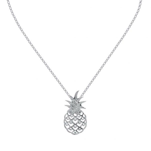 Collier au pedentif ananas. Un collier en argent.