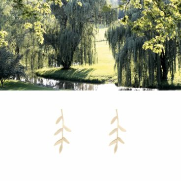 Boucles d'oreilles motif végétal saule chez Poisson Plume