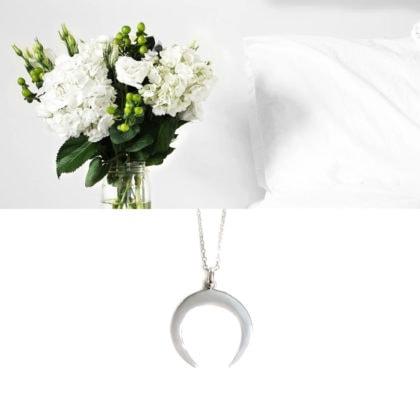 collier talisman lune argent poissonplume bijoux
