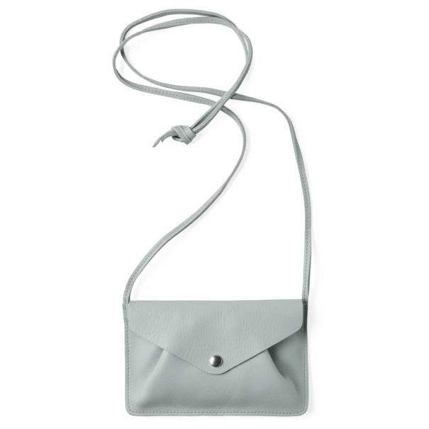 sac en cuir en bandoulière bleu