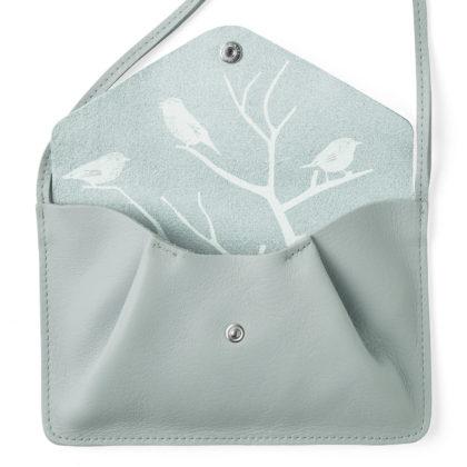 sac bandoulière en cuir bleu clair