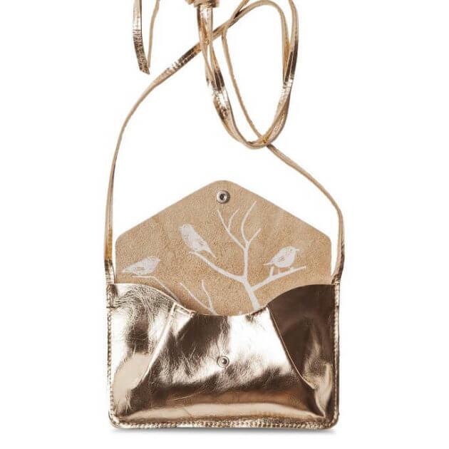 petit sac doré en cuir made in europe