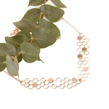 collier de créateur alveoles or orse