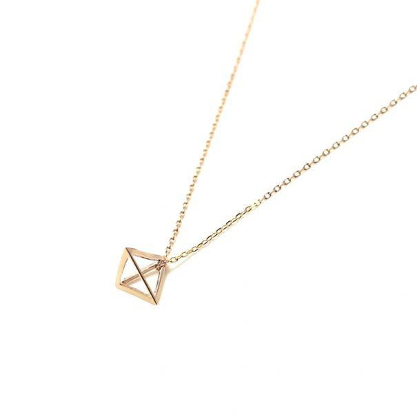 Collier geometrique de createur chez poissonplume bijoux