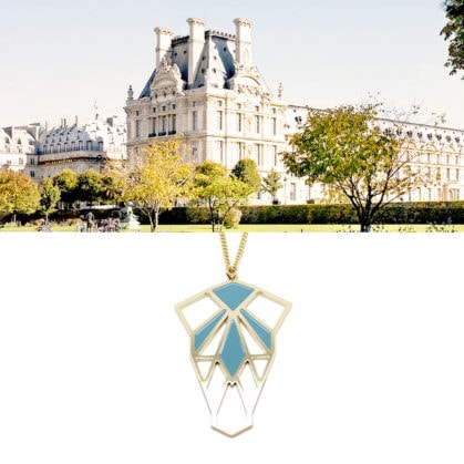 sautoir Anne Thomas Palais royal bleu