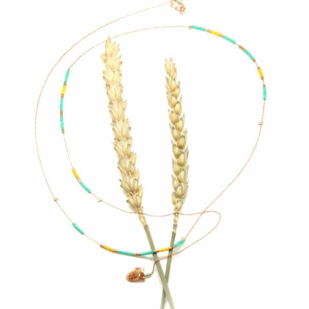 collier fin perles bijou de créateur