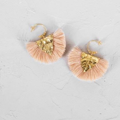 Boucles d'oreilles agia de la créatrice Elise Tsikis, chez Poisson Plume bijoux