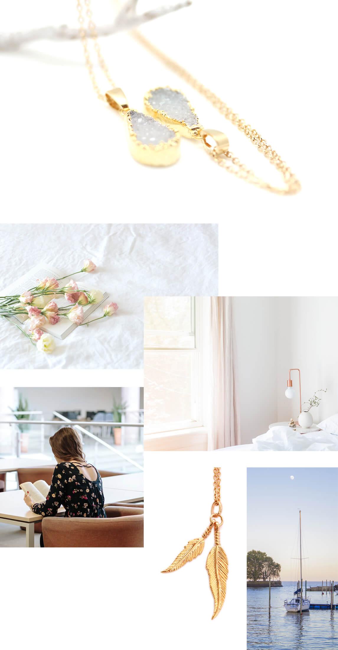 Colliers dorés à l'or fin de la bijouterie