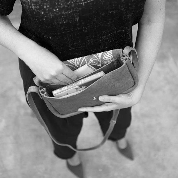 rangements du sac à main Colibri en cuir