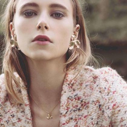 Collier fleur Pensées Elise Tiskis