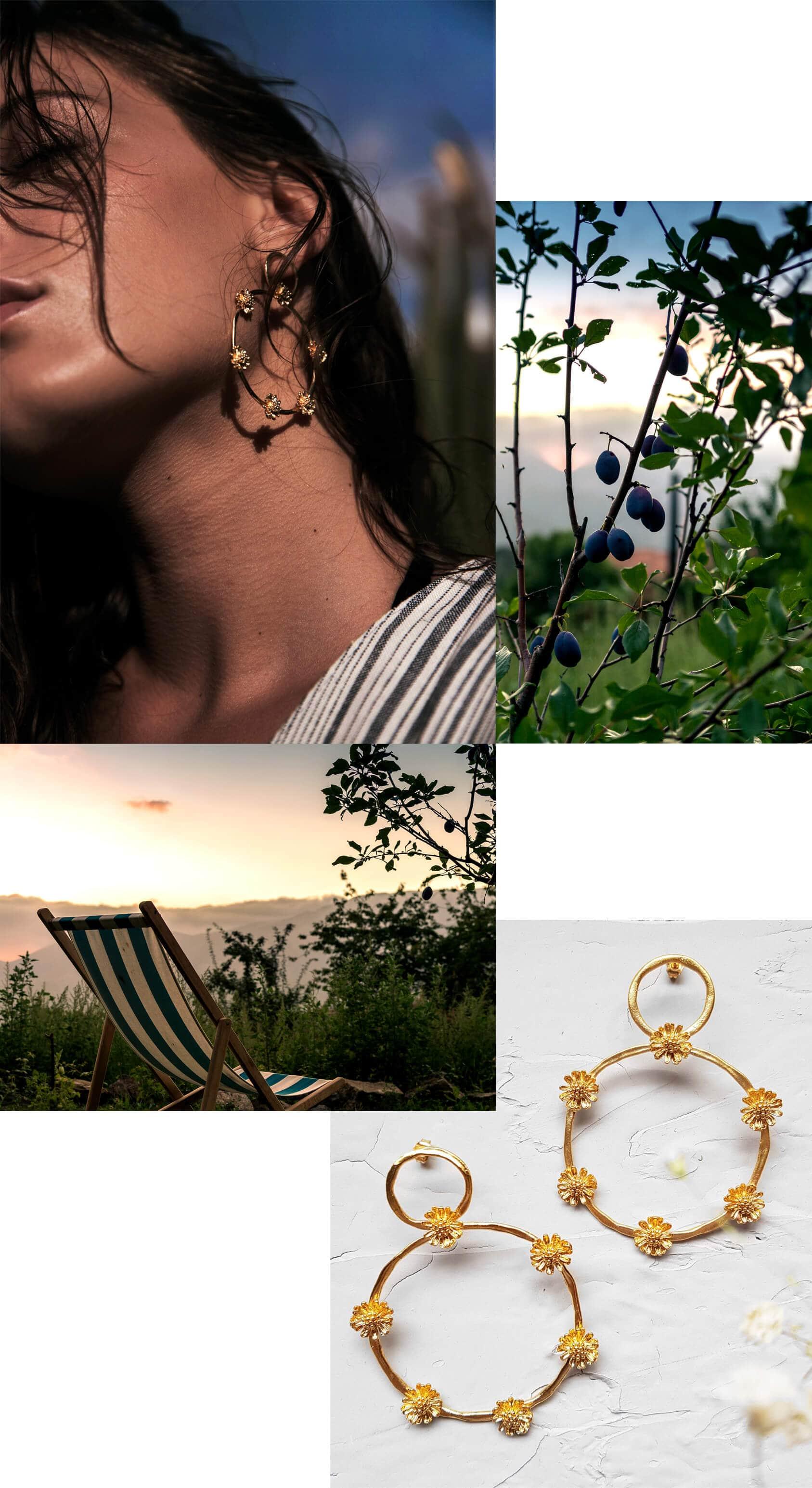 Nouvelle collection de bijoux Elise Tsikis chez Poisson Plume : Marguerites