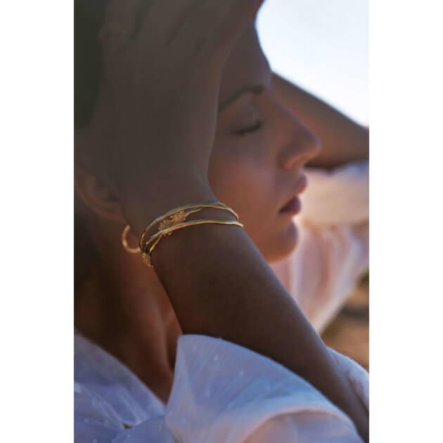 bracelet Marguerite signé Elise Tsikis. En vente chez Poisson Plume