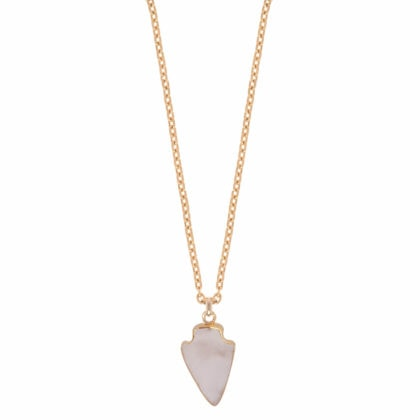 Sautoir Silex quartz rose de la marque Dear Charlotte