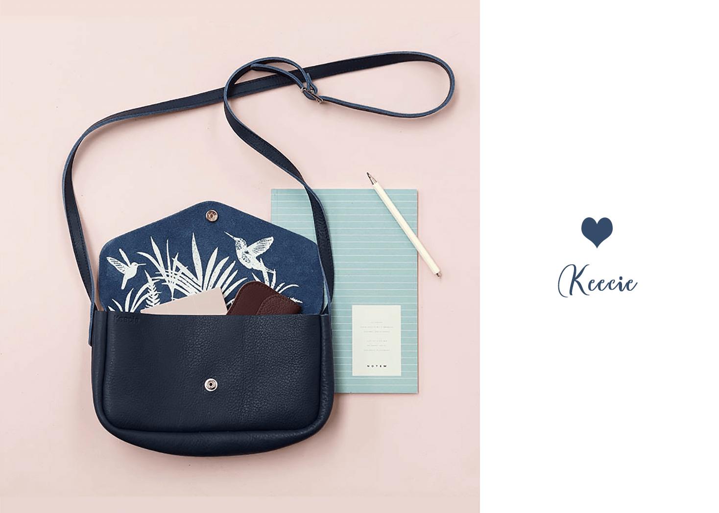 sac à main de créateur Keecie, bleu, chez Poisson Plume