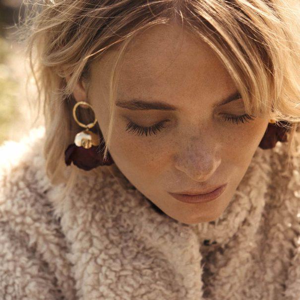 Boucles d'oreilles fleur Dulcita d'Elise Tiskis