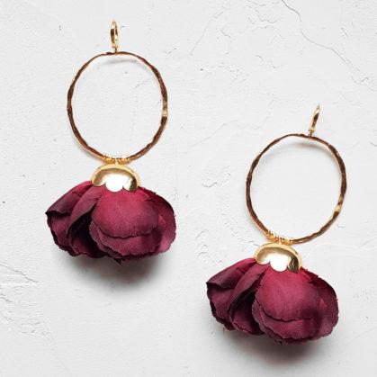 Boucles d'oreilles de créateur Elise Tsikis NATURA