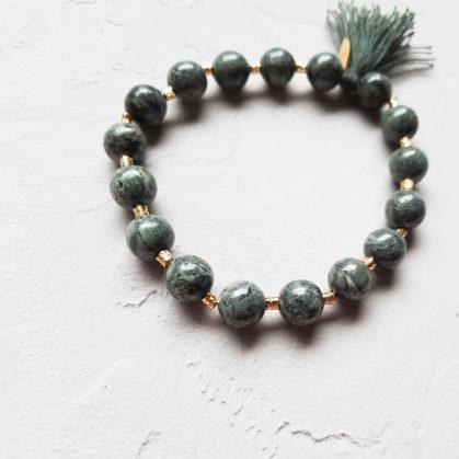 bracelet Elise Tiskis Naica, doté de ppierres fines naturelles agates