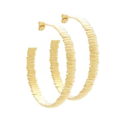 Boucles créoles de créateur, fait-main et dorées à l'or fin.