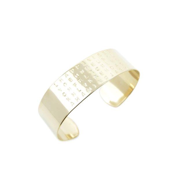 Bracelet Bonheur, made in France et gravé à la main, chez Poisson Plume