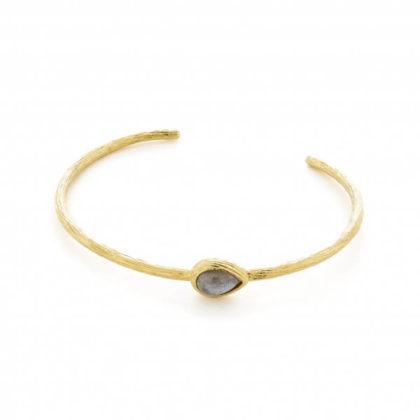 bracelet gaia avec une pierre fine labradorite